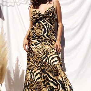Multi animal print vintage dress
